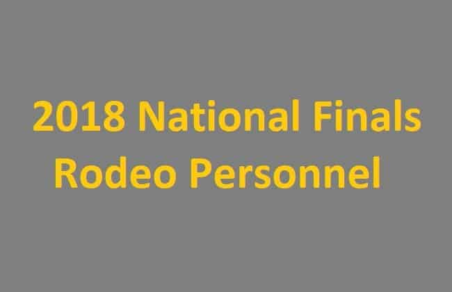 National Finals Rodeo Personnel